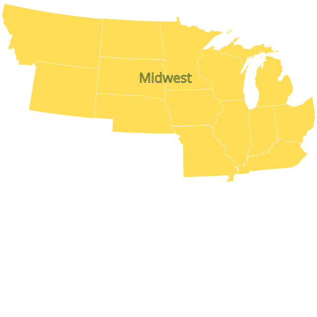 NOBCChE Midwest Map