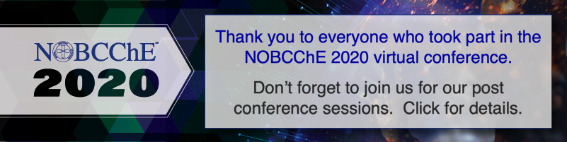 NOBCChE 2020 post conference banner thanking participants and reminding everyone to view the post conference sessions.